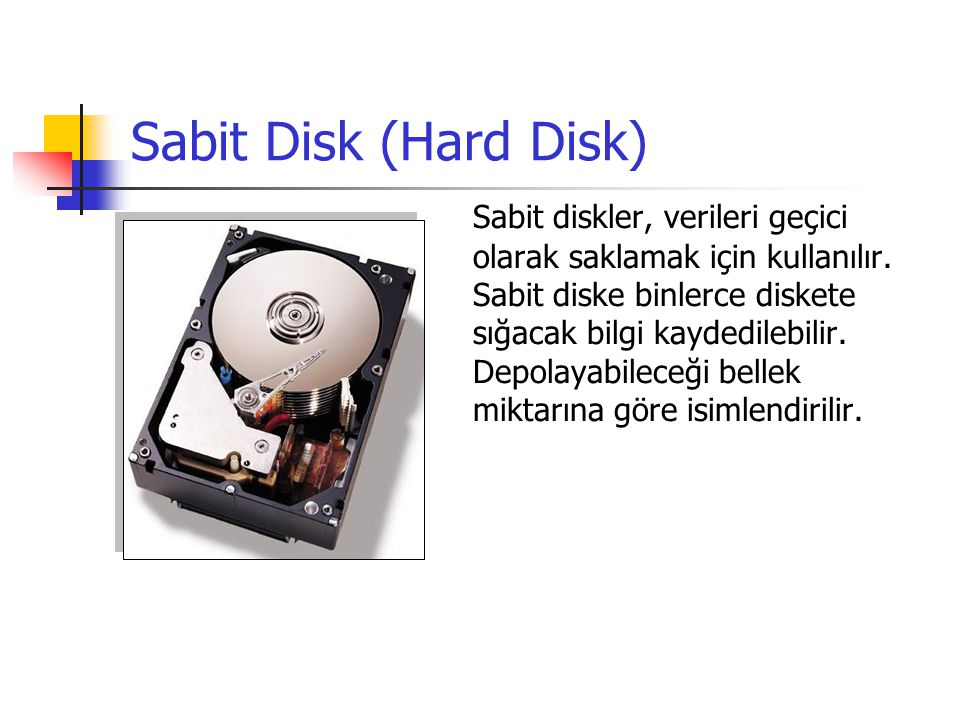 Sabit Disk (Hard Disk)