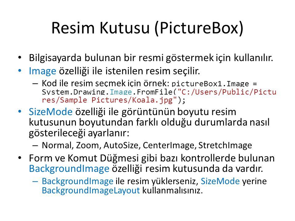 Resim Kutusu (PictureBox)