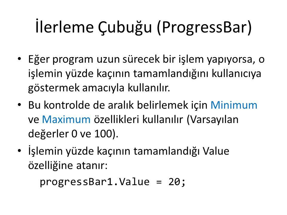 İlerleme Çubuğu (ProgressBar)