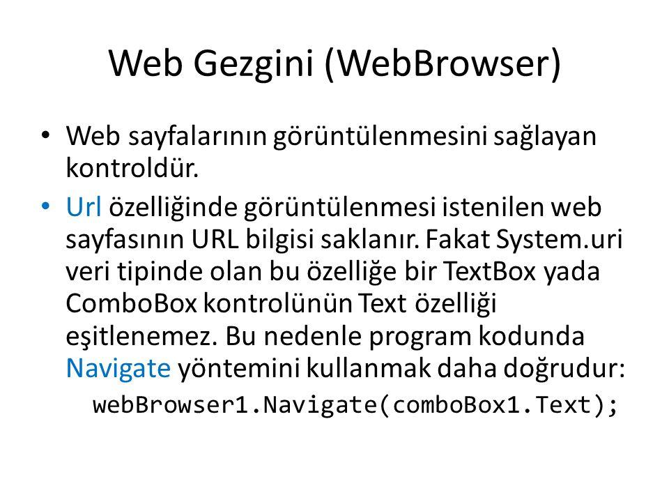 Web Gezgini (WebBrowser)
