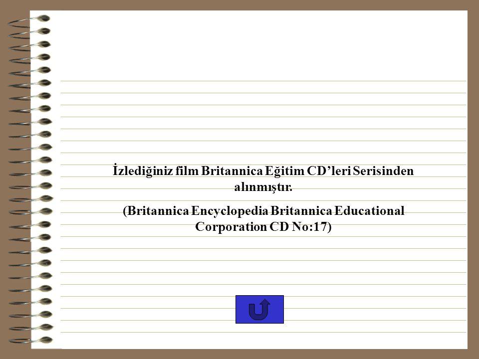 İzlediğiniz film Britannica Eğitim CD'leri Serisinden alınmıştır.