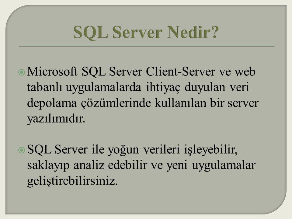 SQL Server Nedir