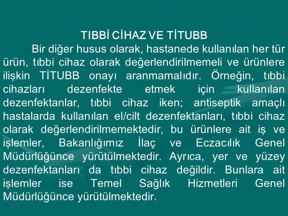 TIBBİ CİHAZ VE TİTUBB