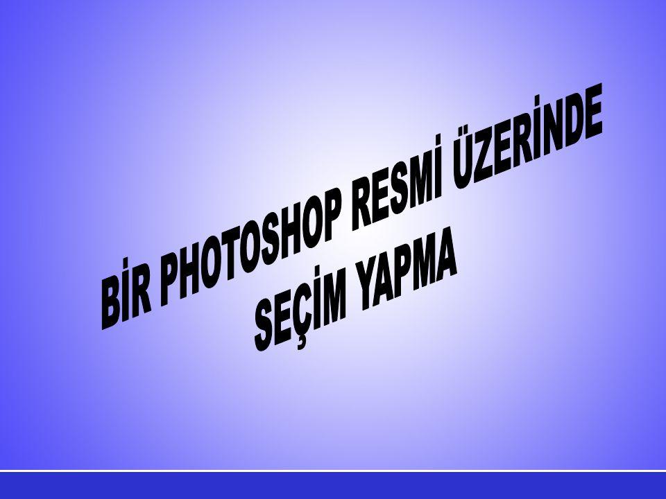 BİR PHOTOSHOP RESMİ ÜZERİNDE