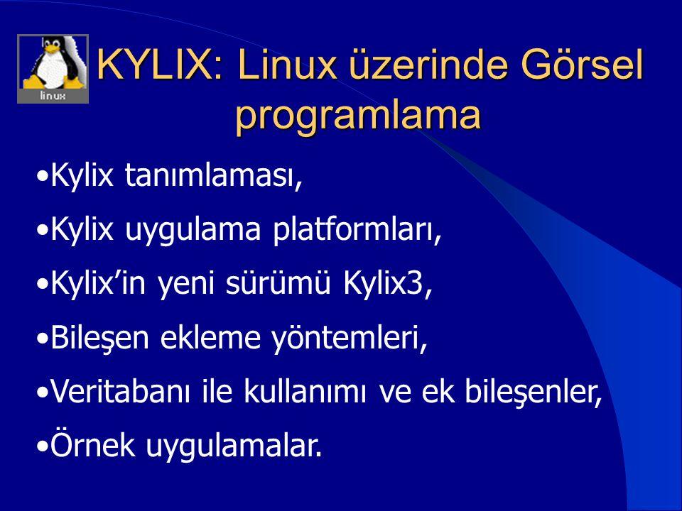 KYLIX: Linux üzerinde Görsel programlama