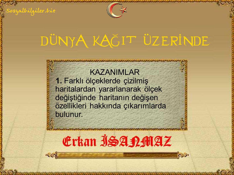 KAZANIMLAR 1.