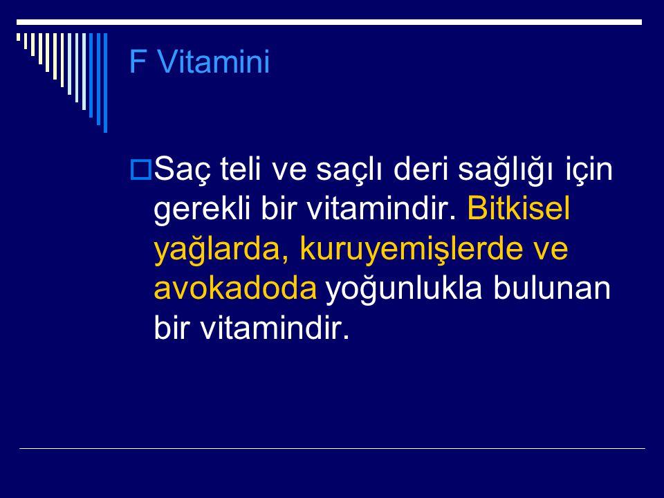 F Vitamini