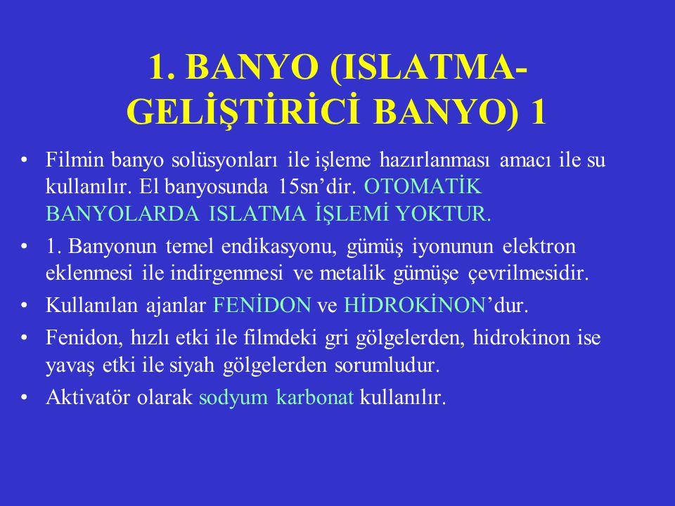 1. BANYO (ISLATMA-GELİŞTİRİCİ BANYO) 1