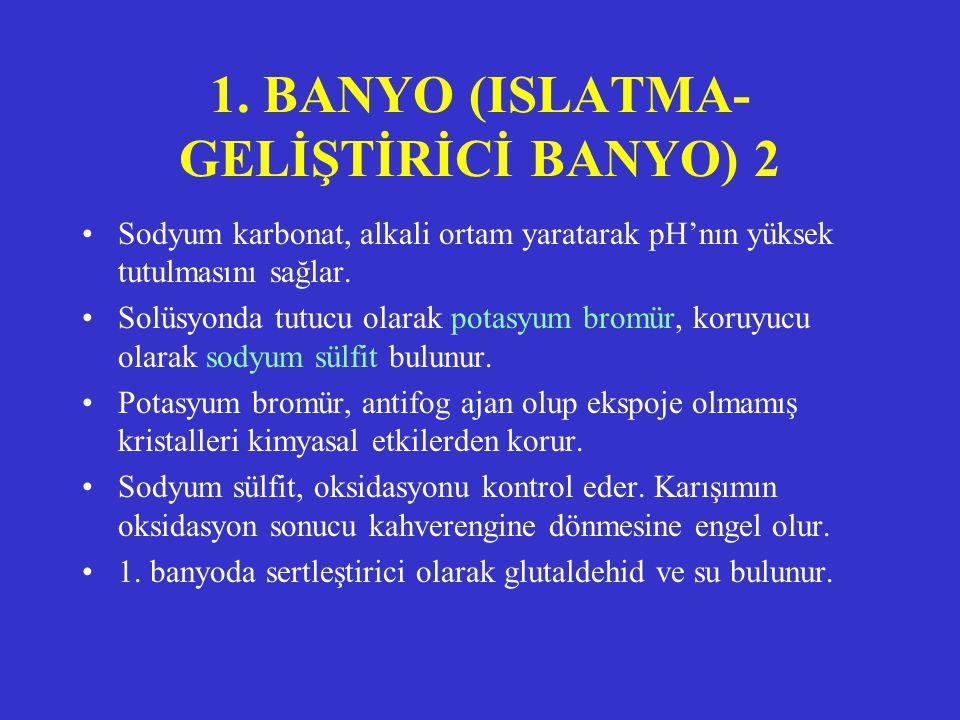 1. BANYO (ISLATMA-GELİŞTİRİCİ BANYO) 2