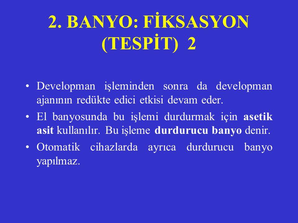 2. BANYO: FİKSASYON (TESPİT) 2