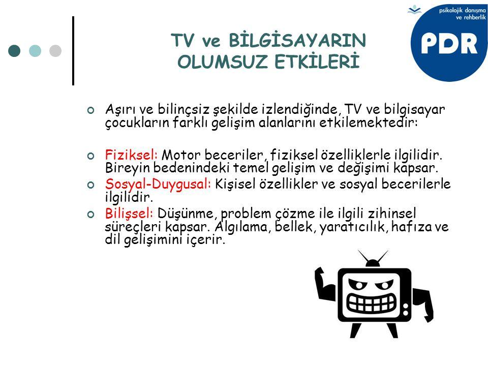 TV ve BİLGİSAYARIN OLUMSUZ ETKİLERİ