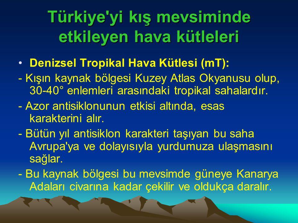 Türkiye yi kış mevsiminde etkileyen hava kütleleri