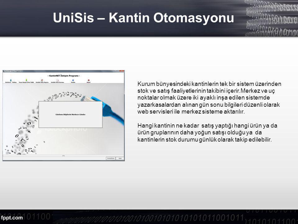 UniSis – Kantin Otomasyonu