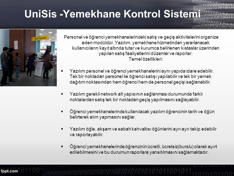 UniSis -Yemekhane Kontrol Sistemi