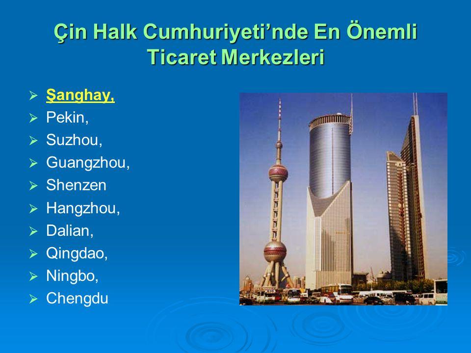 Çin Halk Cumhuriyeti'nde En Önemli Ticaret Merkezleri