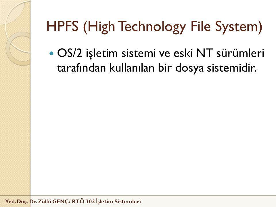 HPFS (High Technology File System)