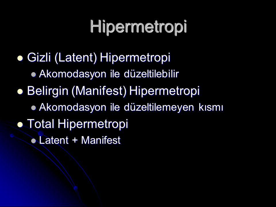 Hipermetropi Gizli (Latent) Hipermetropi