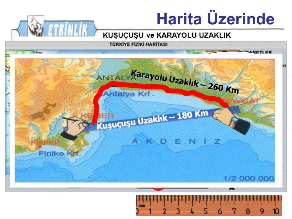 Harita Üzerinde PEKİ 6 Cm 100 km İzmir-KASTAMONU ARASI,