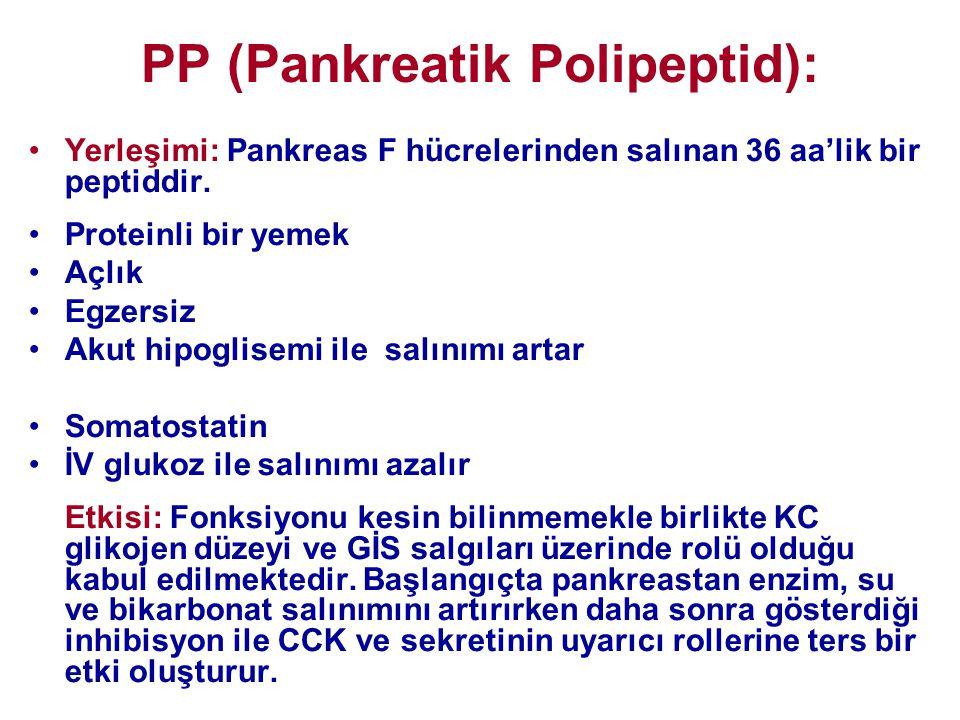 PP (Pankreatik Polipeptid):