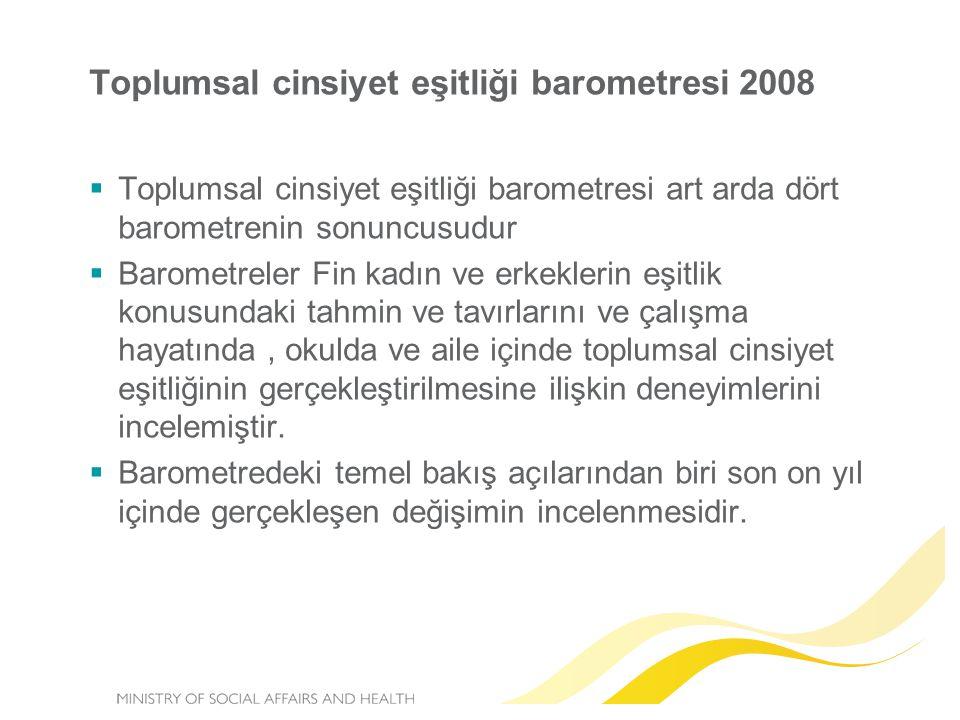 Toplumsal cinsiyet eşitliği barometresi 2008