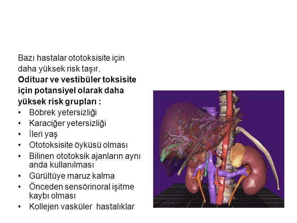 Bazı hastalar ototoksisite için