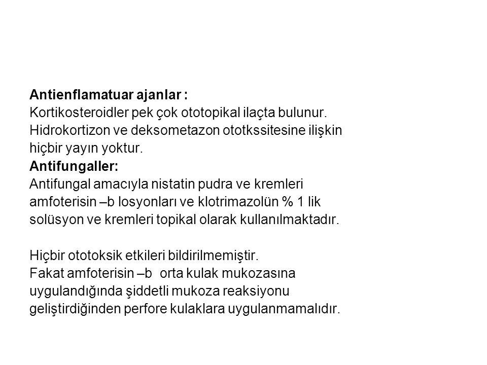 Antienflamatuar ajanlar :