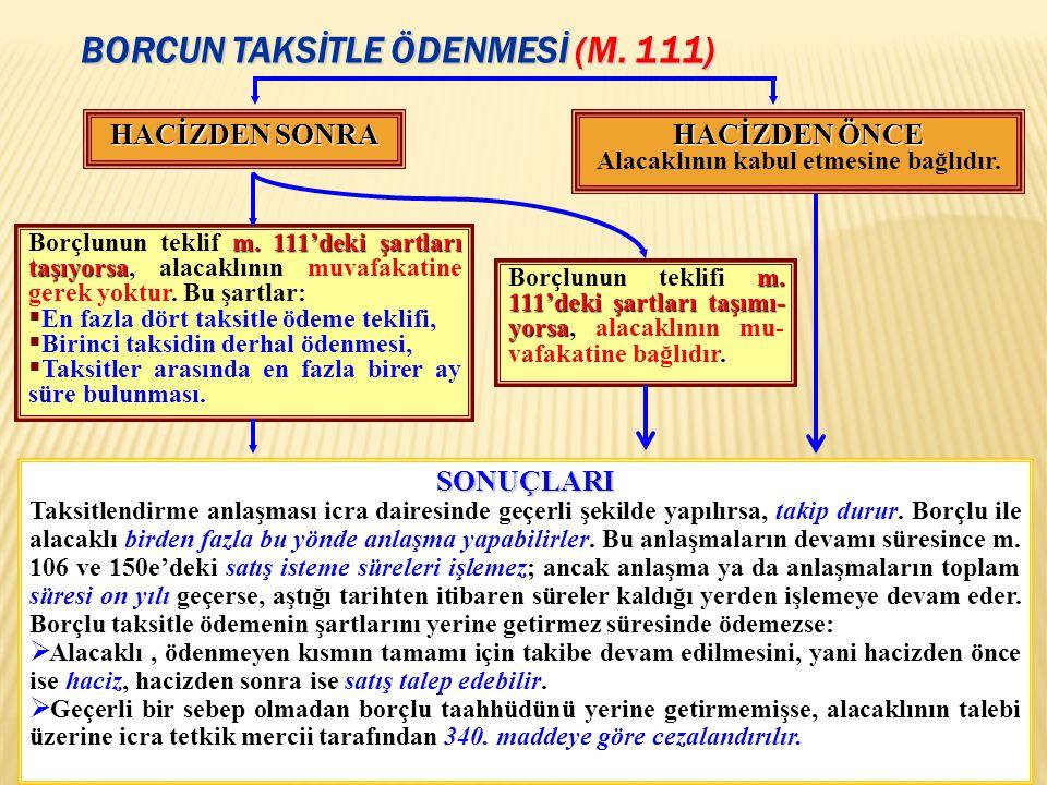 BORCUN TAKSİTLE ÖDENMESİ (m. 111)