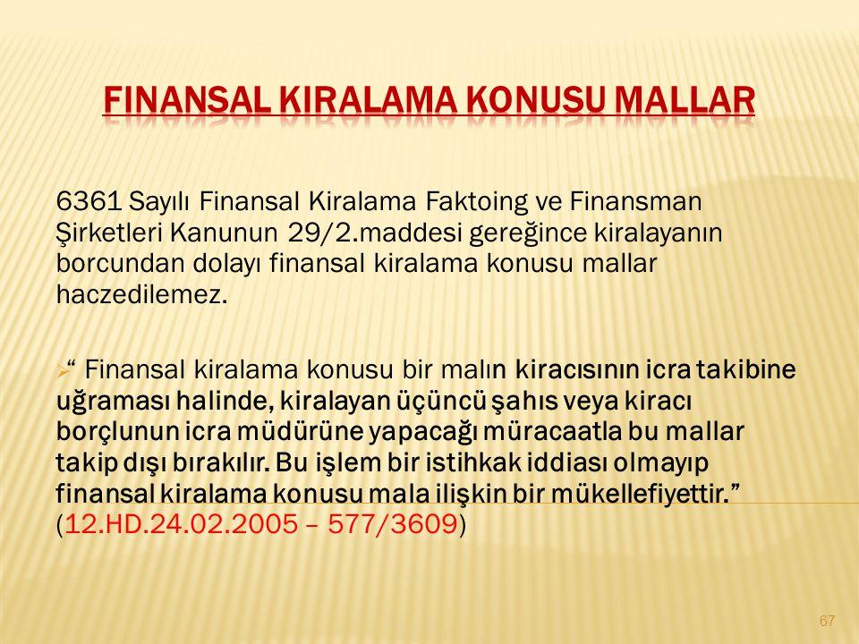 Finansal Kiralama Konusu Mallar