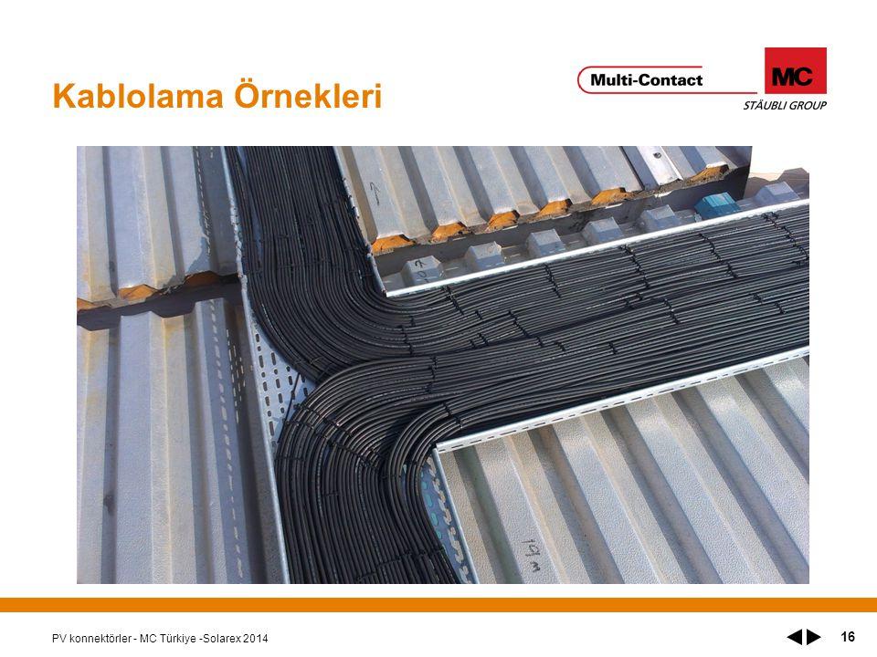 Kablolama Örnekleri PV konnektörler - MC Türkiye -Solarex 2014