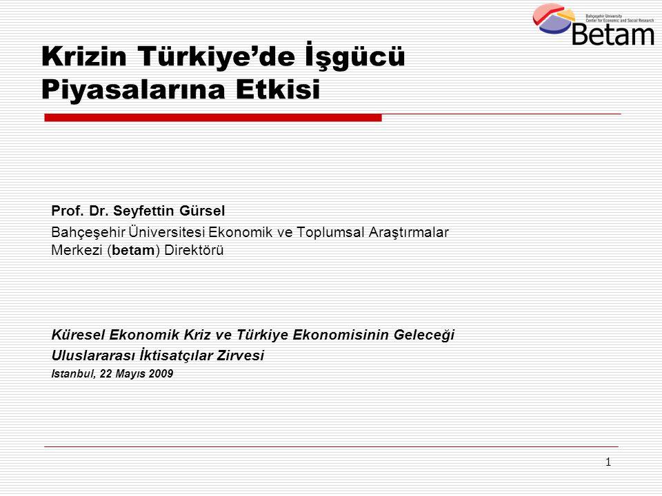 Krizin Türkiye'de İşgücü Piyasalarına Etkisi
