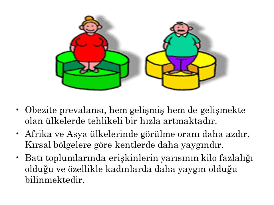 Obezite prevalansı, hem gelişmiş hem de gelişmekte olan ülkelerde tehlikeli bir hızla artmaktadır.