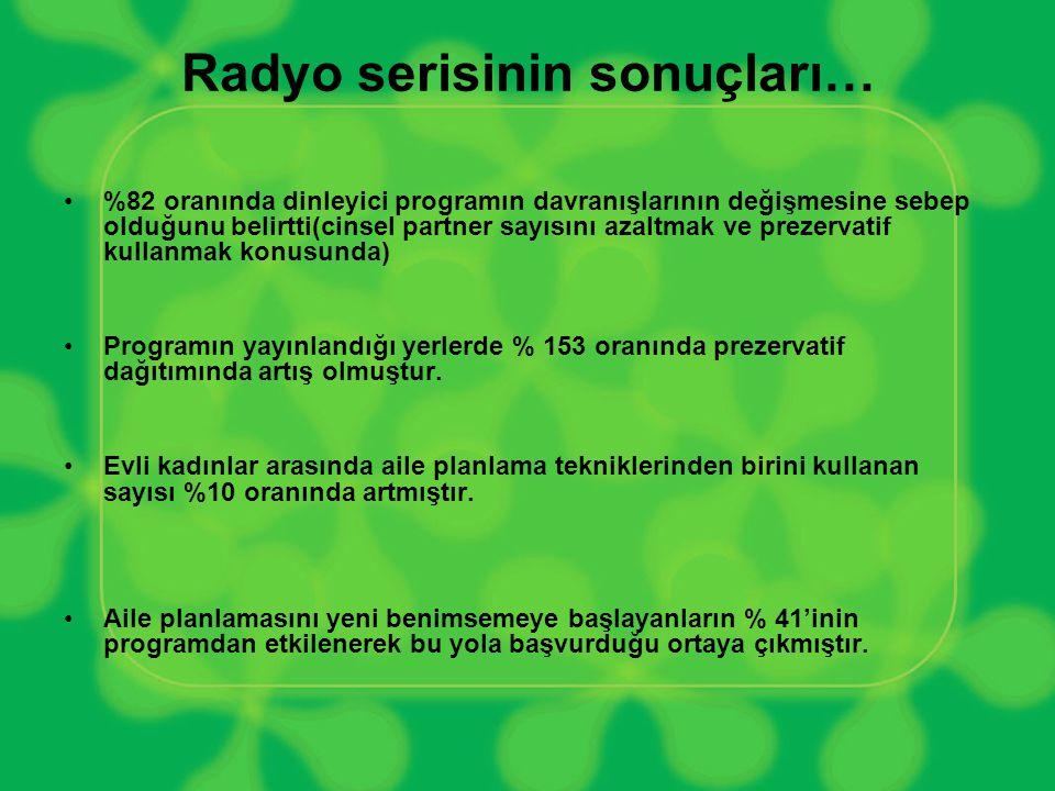 Radyo serisinin sonuçları…