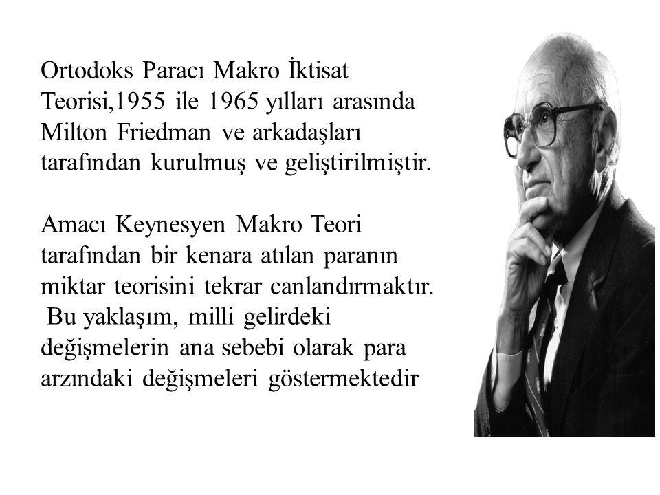 Ortodoks Paracı Makro İktisat Teorisi,1955 ile 1965 yılları arasında Milton Friedman ve arkadaşları tarafından kurulmuş ve geliştirilmiştir.
