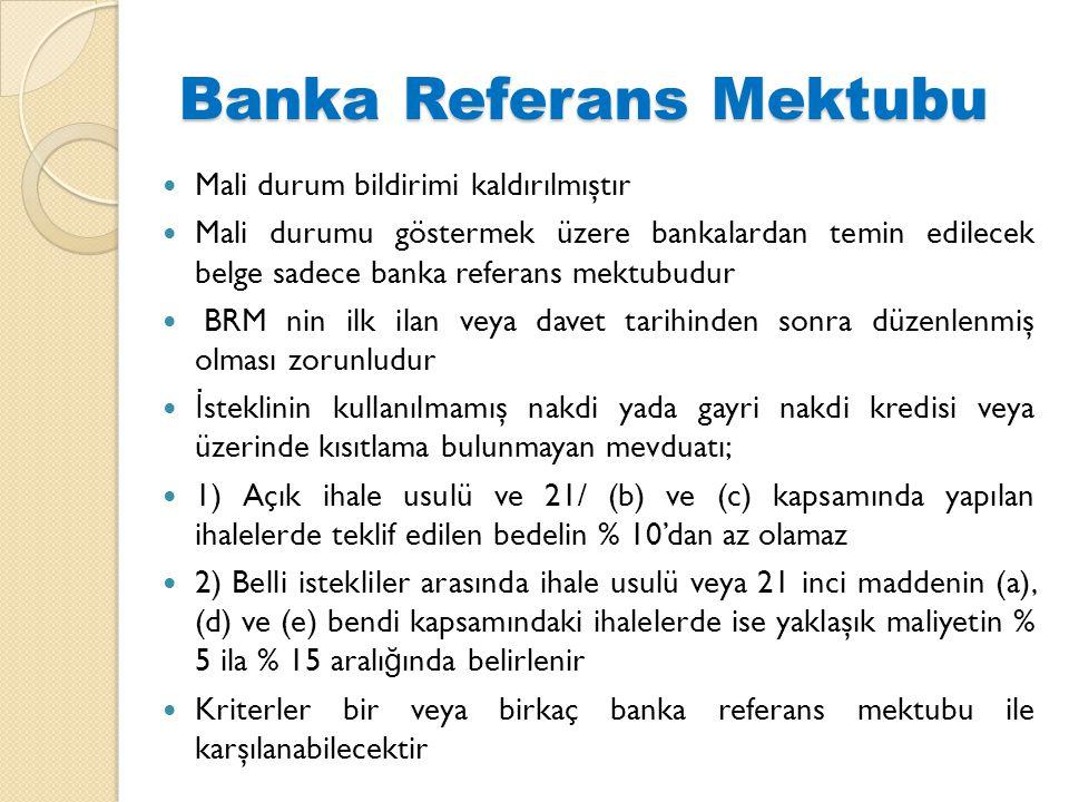 Banka Referans Mektubu