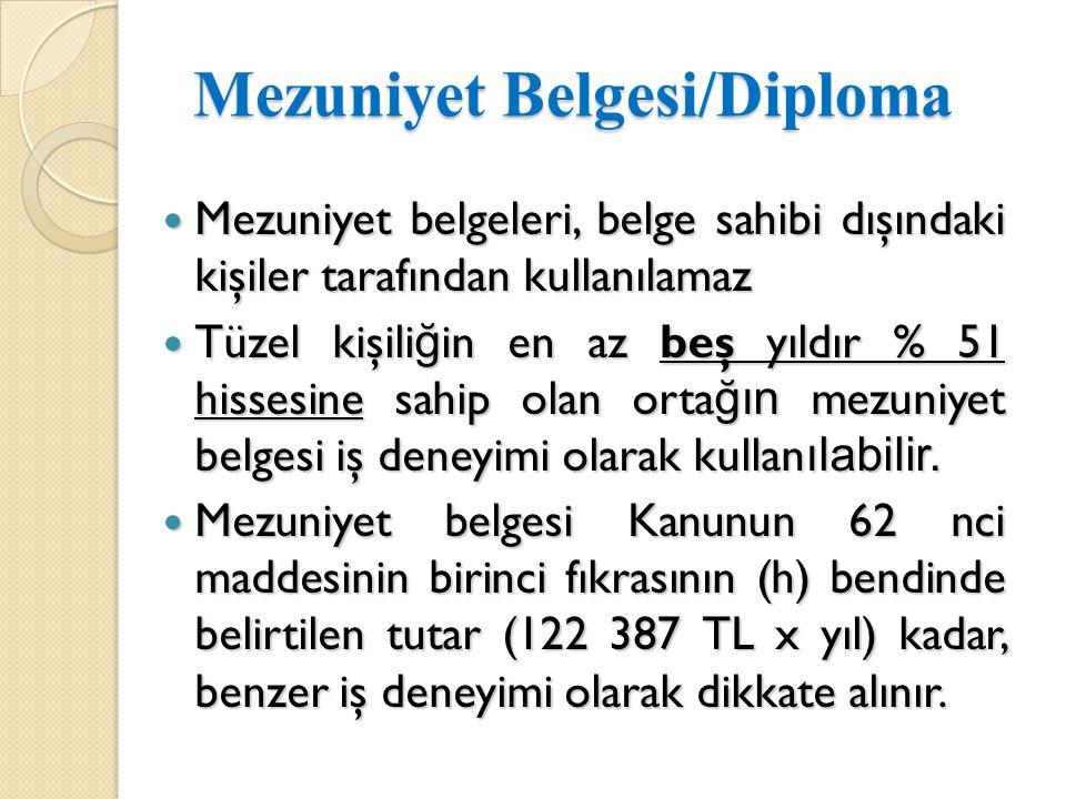 Mezuniyet Belgesi/Diploma