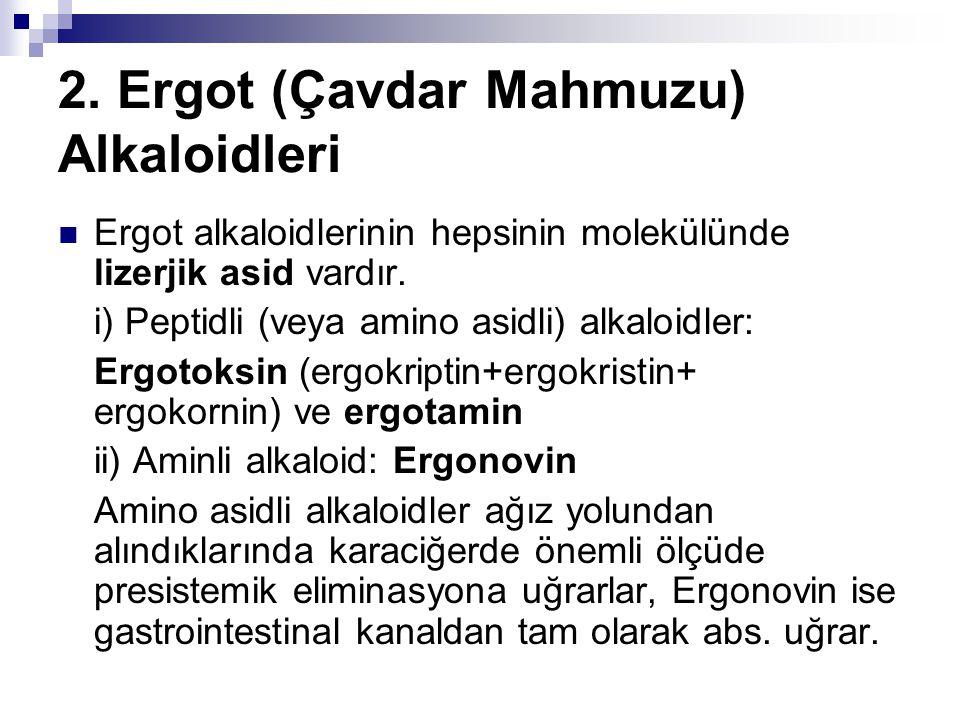 2. Ergot (Çavdar Mahmuzu) Alkaloidleri