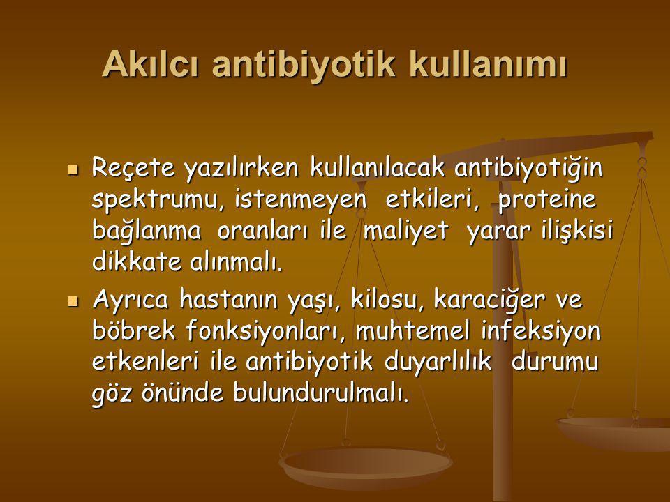 Akılcı antibiyotik kullanımı