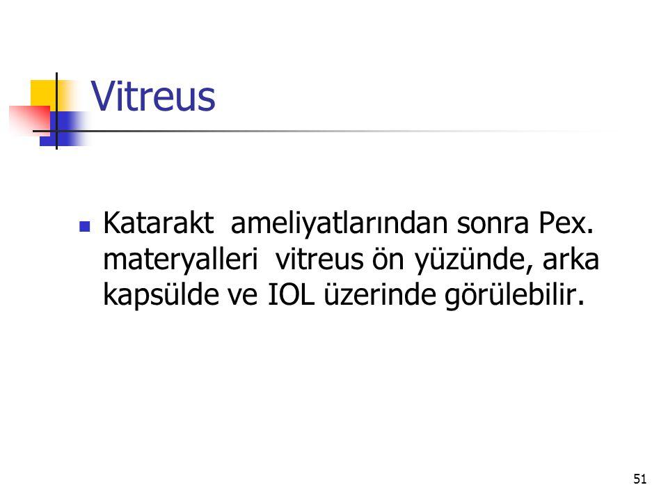 Vitreus Katarakt ameliyatlarından sonra Pex.