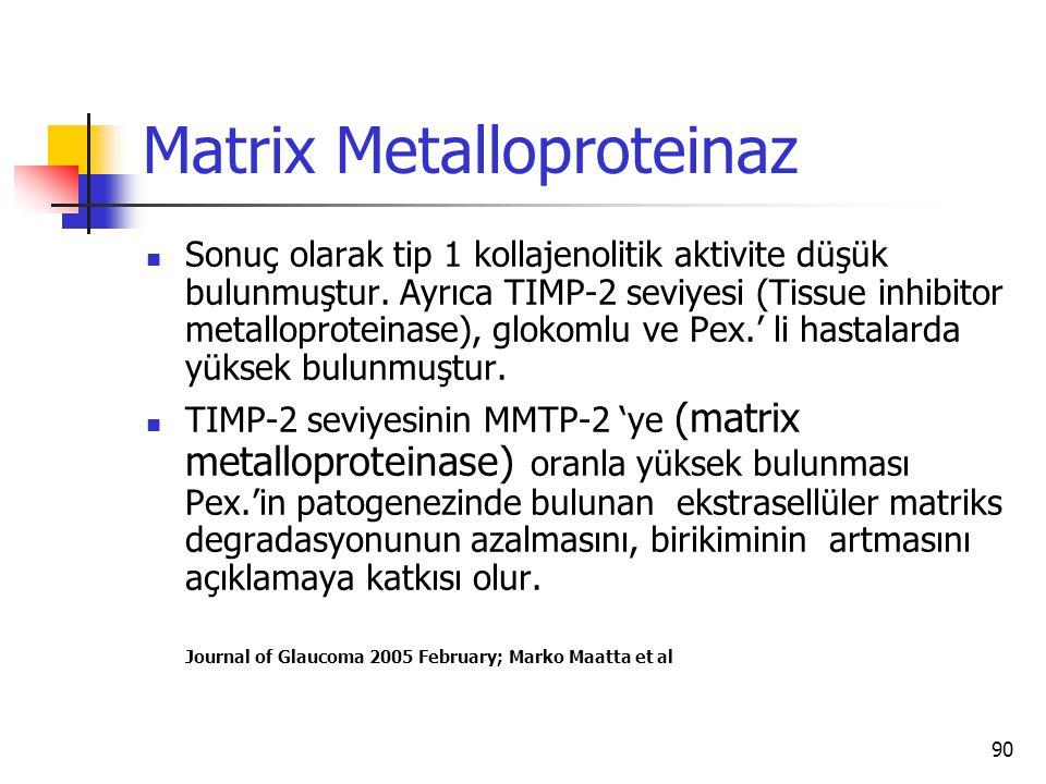 Matrix Metalloproteinaz
