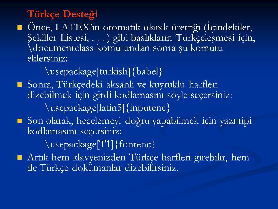 Türkçe Desteği