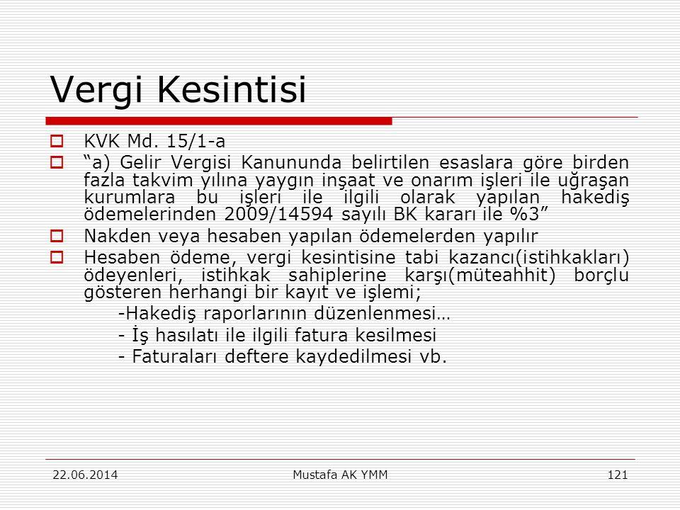 Vergi Kesintisi KVK Md. 15/1-a
