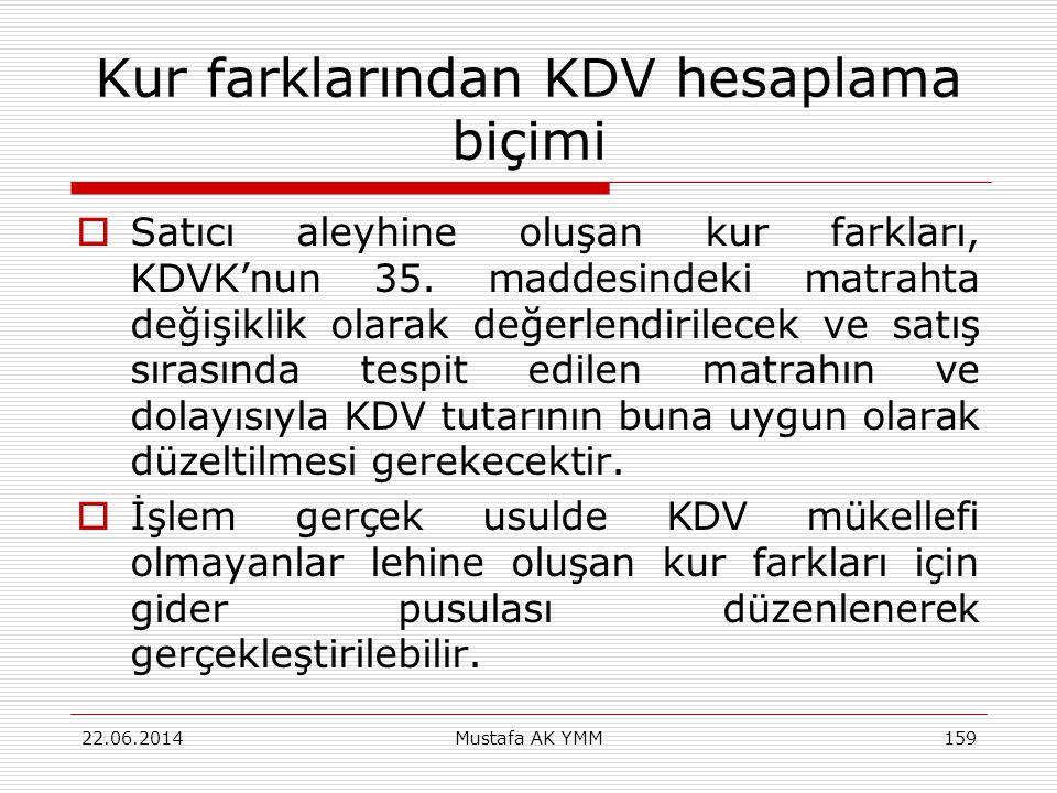 Kur farklarından KDV hesaplama biçimi