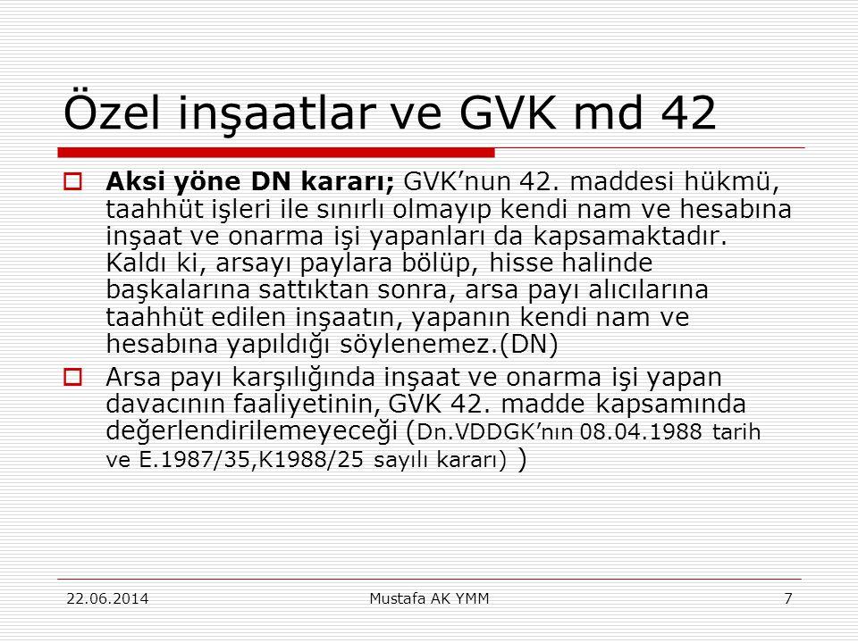 Özel inşaatlar ve GVK md 42