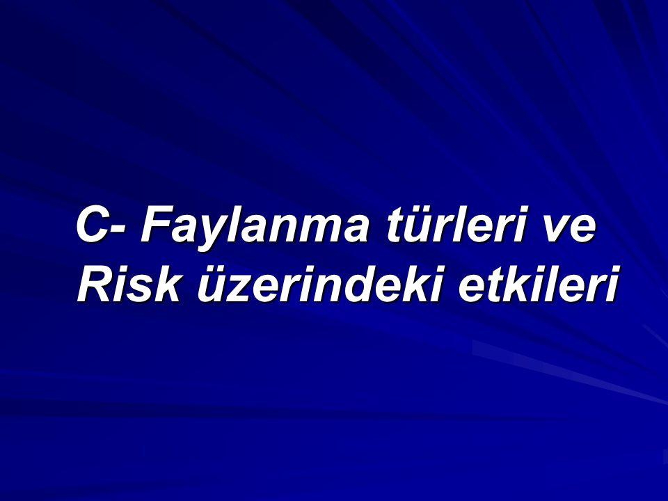 C- Faylanma türleri ve Risk üzerindeki etkileri
