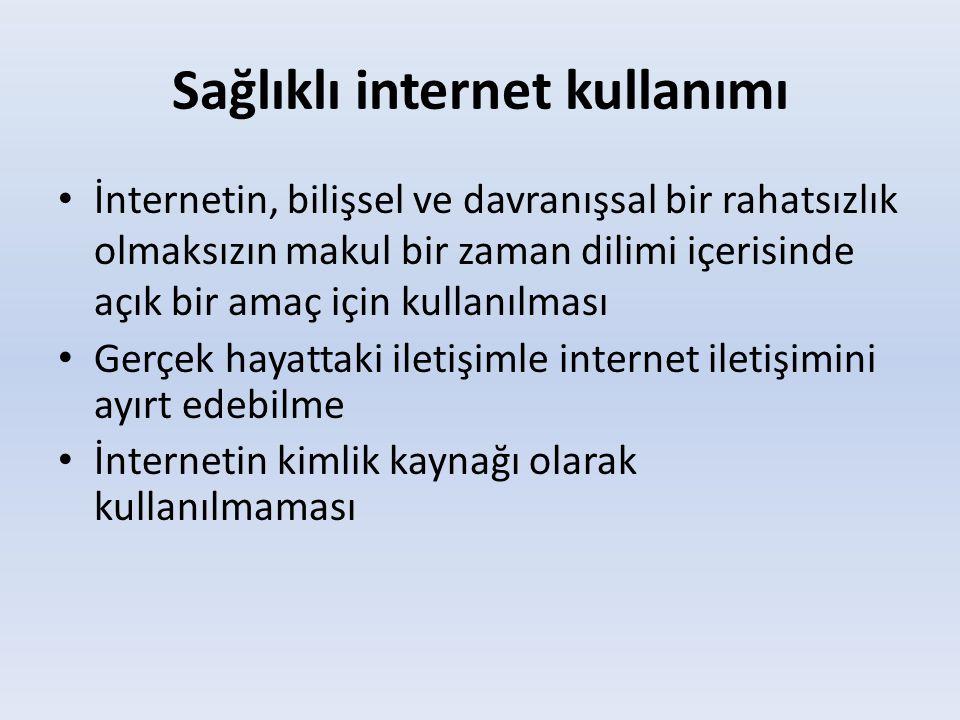 Sağlıklı internet kullanımı