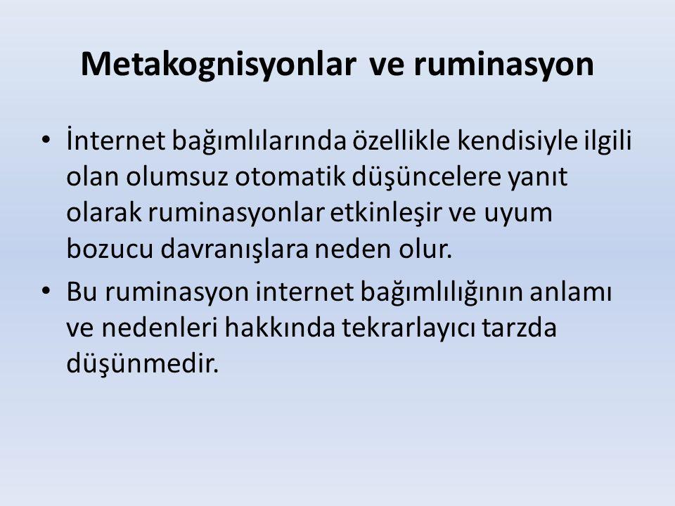 Metakognisyonlar ve ruminasyon