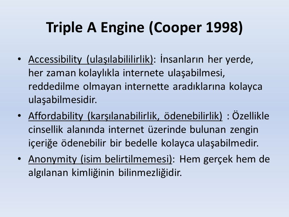 Triple A Engine (Cooper 1998)