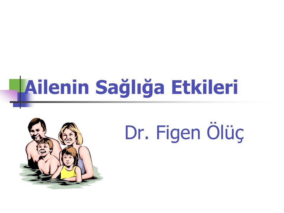 Ailenin Sağlığa Etkileri Dr. Figen Ölüç
