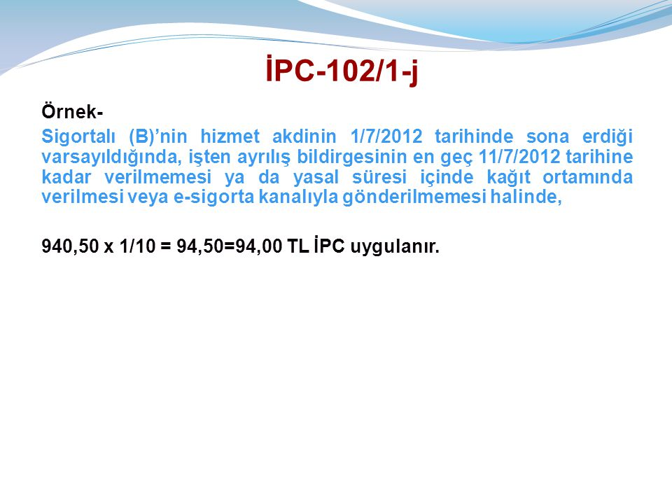 İPC-102/1-j Örnek-