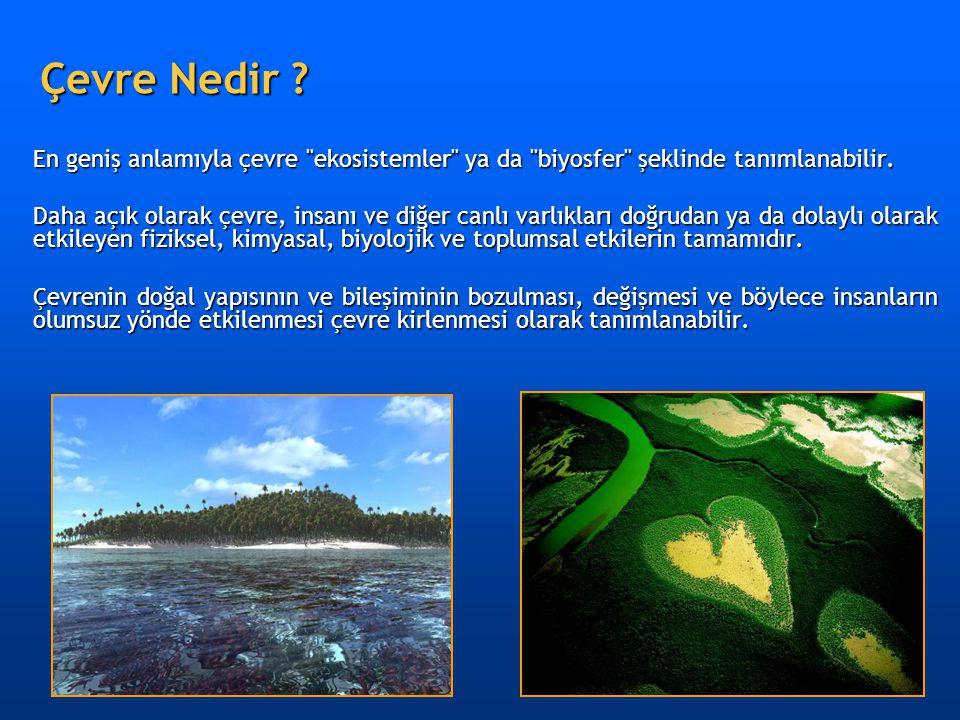 Çevre Nedir En geniş anlamıyla çevre ekosistemler ya da biyosfer şeklinde tanımlanabilir.